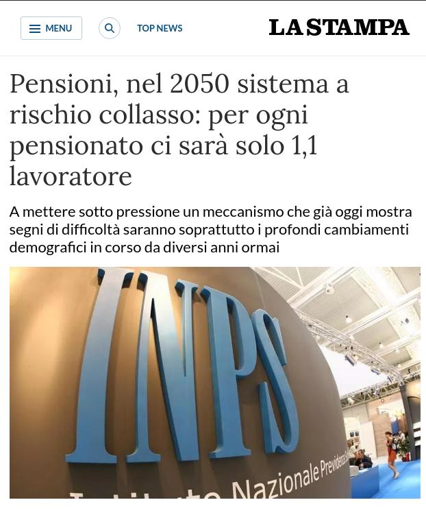 Perché integrare la pensione: articolo de La Stampa