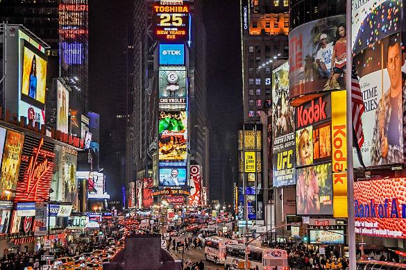 Pubblicità a Time Square